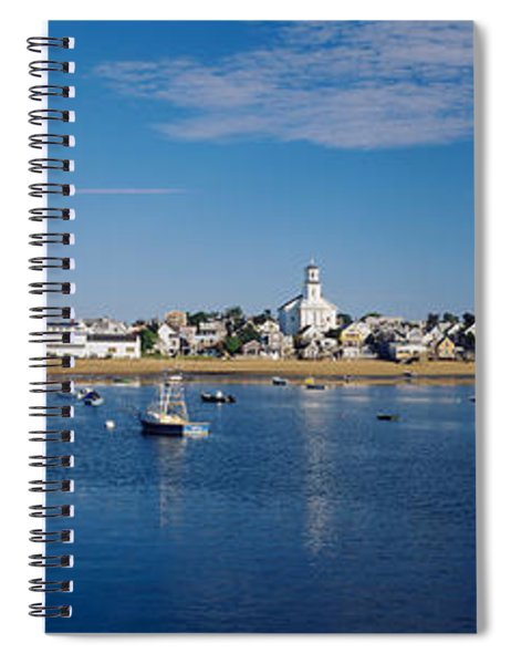 Boats In The Sea, Provincetown, Cape Spiral Notebook