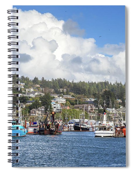 Boats In Yaquina Bay Spiral Notebook