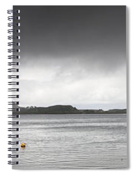 Boats Moored In The Harbor Oban Spiral Notebook