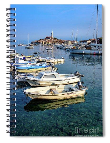 Boats Of The Adriatic, Rovinj, Istria, Croatia  Spiral Notebook