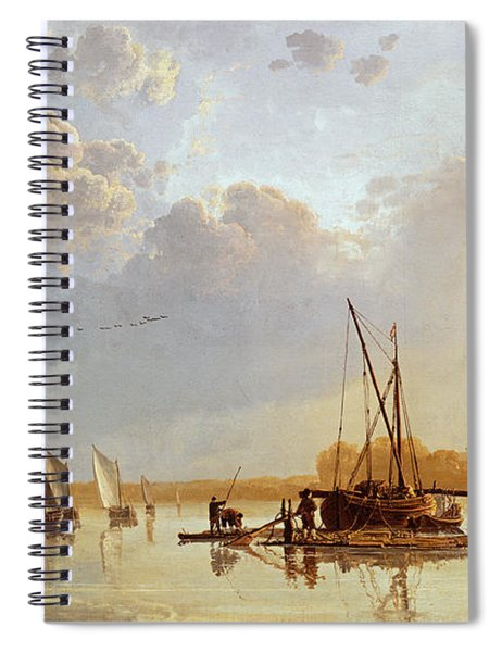 Boats On A River Spiral Notebook