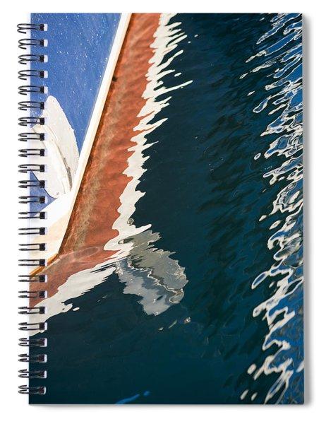 Boatside Reflection Spiral Notebook
