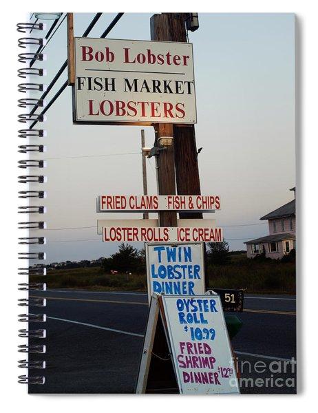 Bob Lobster Fish Market Spiral Notebook