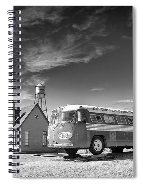 Bob Wills And The Texas Playboys Tour Bus Turkey Tx Spiral Notebook