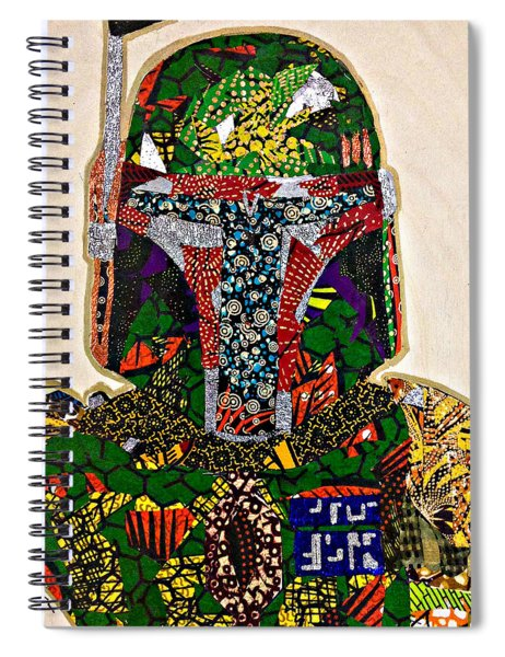 Boba Fett Star Wars Afrofuturist Collection Spiral Notebook