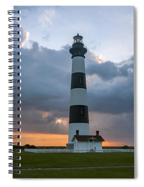 Bodie Island Lighthouse Sunset Spiral Notebook