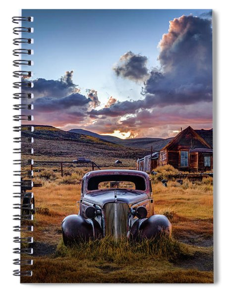 Bodie's 1937 Chevy At Sunset Spiral Notebook