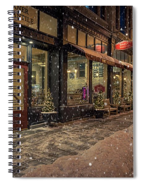 Boerner Mercantile Christmas Spiral Notebook
