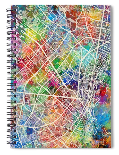 Bogota Colombia City Map Spiral Notebook
