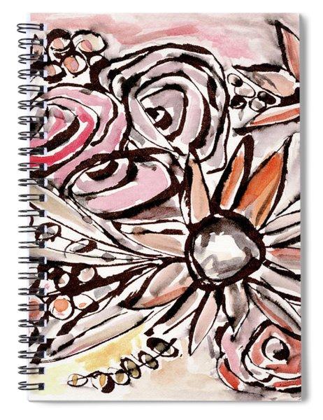 Bohemian Garden 1- Art By Linda Woods Spiral Notebook
