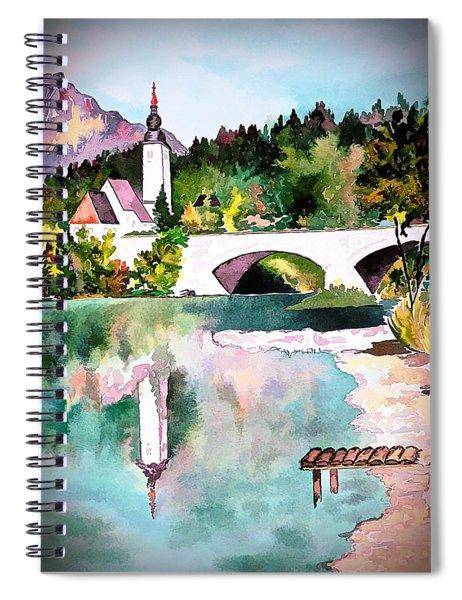Bohinj - Church Of St John, Slovenia Spiral Notebook