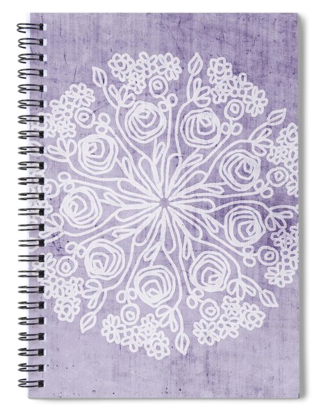 Boho Floral Mandala 1- Art By Linda Woods Spiral Notebook
