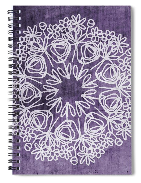 Boho Floral Mandala 2- Art By Linda Woods Spiral Notebook