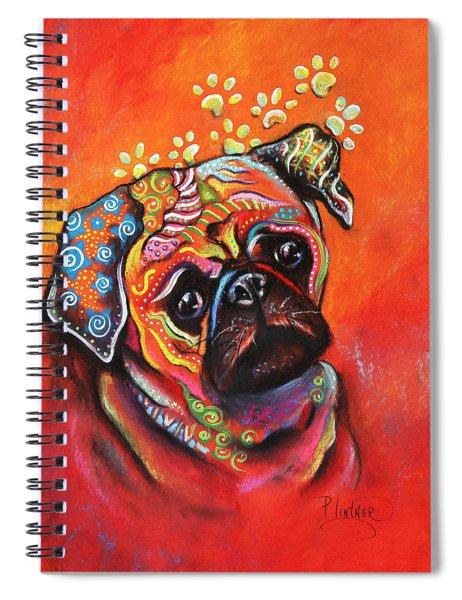 Pug Spiral Notebook
