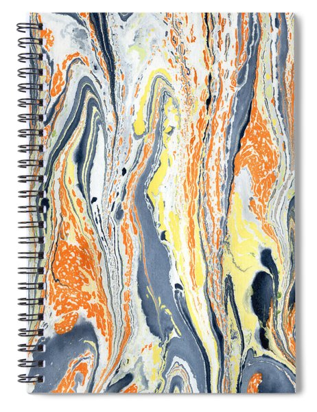 Boiling Lava Spiral Notebook