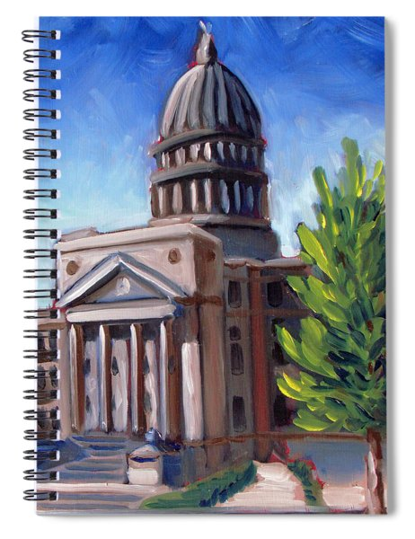 Boise Capitol Building 01 Spiral Notebook