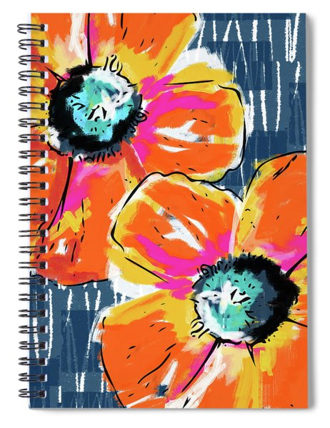 Bold Orange Poppies- Art By Linda Woods Spiral Notebook