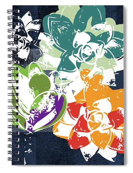 Bold Succulents 1- Art By Linda Woods Spiral Notebook by Linda Woods