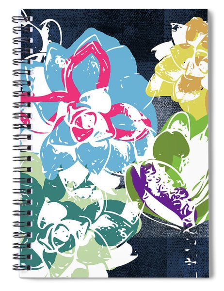 Bold Succulents 2- Art By Linda Woods Spiral Notebook by Linda Woods