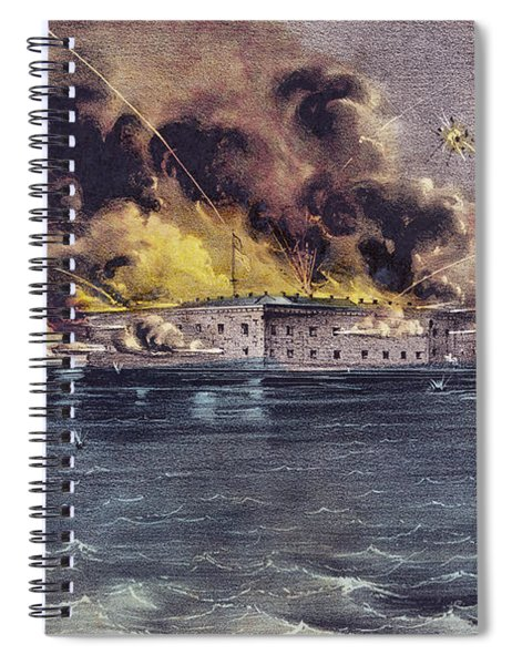 Bombardment Of Fort Sumter, Charleston Harbor, Signaled The Start Of The American Civil War Spiral Notebook