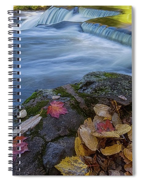 Spiral Notebook featuring the photograph Bond Falls 1 by Heather Kenward