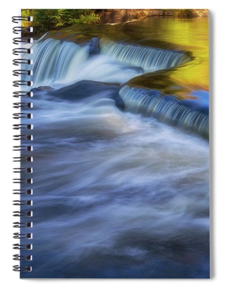 Spiral Notebook featuring the photograph Bond Falls 2 by Heather Kenward
