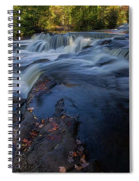 Spiral Notebook featuring the photograph Bond Falls 6 by Heather Kenward