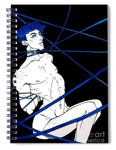Bondage Blue Spiral Notebook