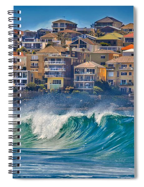 Bondi Waves Spiral Notebook