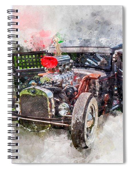 Bone Head Watercolor Spiral Notebook