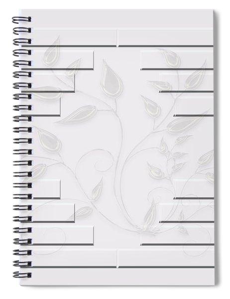 Bonjour Leaves Mass Spiral Notebook