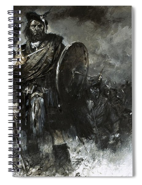 Bonnie Prince Charlie At Culloden Spiral Notebook