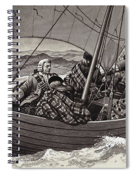 Bonnie Prince Charlie Sets Out For The Isle Of Skye Spiral Notebook