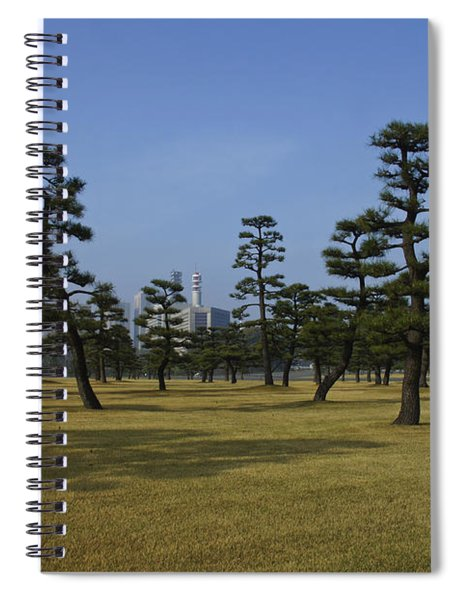 Bonsai Trees And Tokyo Skyscrapers Spiral Notebook