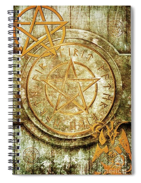 Book Of The Occult Spiral Notebook