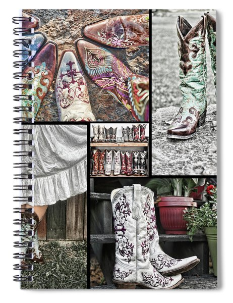 Boot Collage Spiral Notebook
