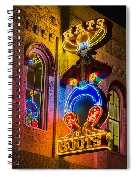 Boots And Hats Spiral Notebook