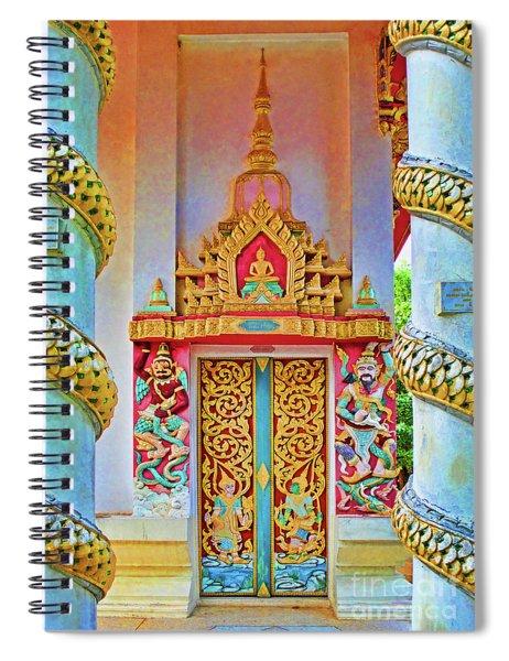 Bophut Temple In Thailand Spiral Notebook