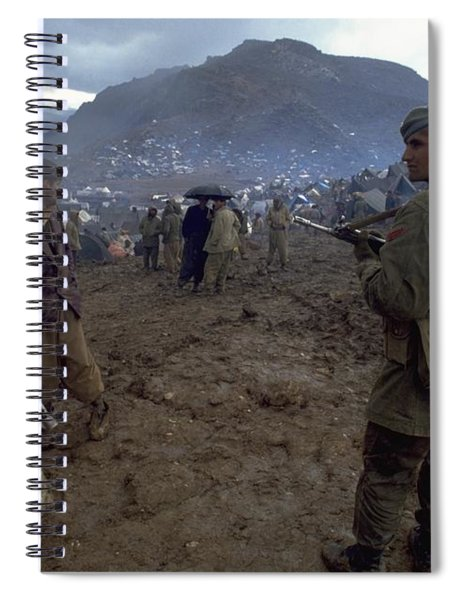 Spiral Notebook featuring the photograph Border Control by Travel Pics