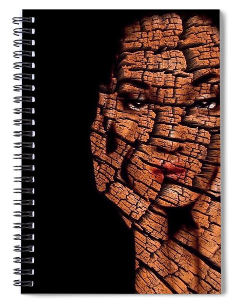 Spiral Notebook featuring the digital art Bored Stiff by ISAW Company