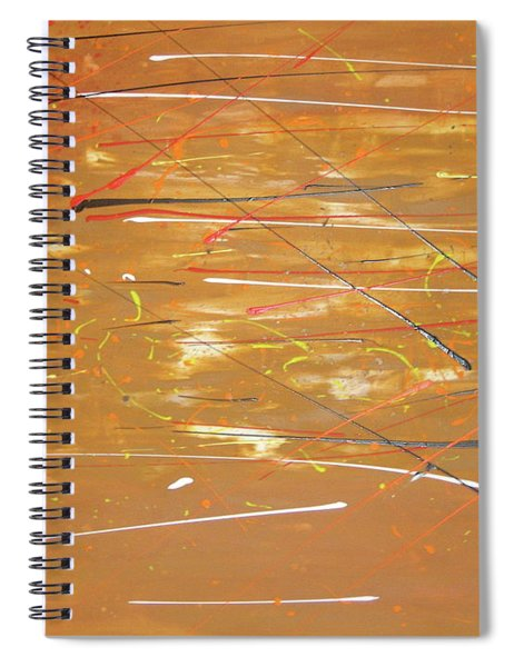 Spiral Notebook featuring the painting Born Again by Michael Lucarelli