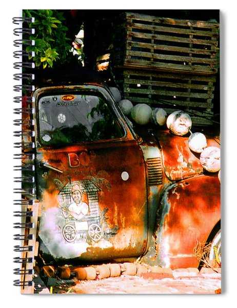 B.o.'s Fish Wagon In Key West Spiral Notebook