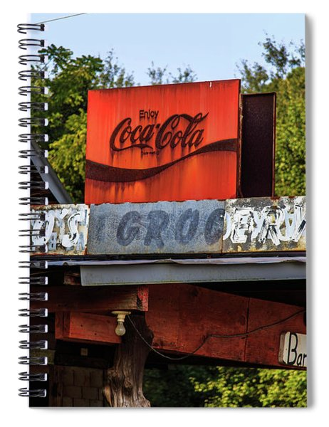 Spiral Notebook featuring the photograph Bo's Grocery by Doug Camara