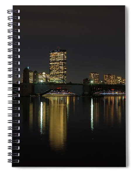 Boston Skyscrappers Behind Bridge Spiral Notebook