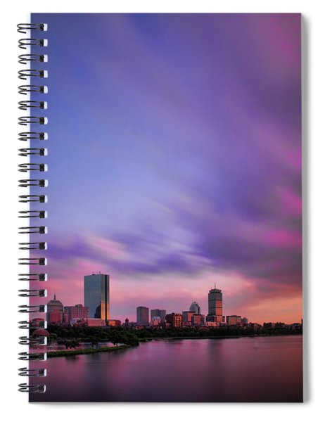 Boston Afterglow Spiral Notebook