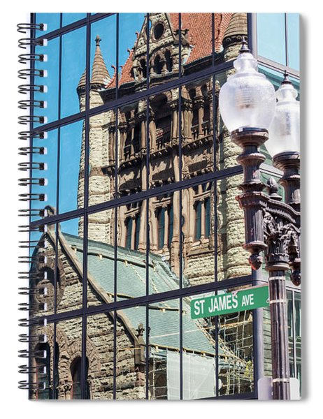 Boston At Different Angle Spiral Notebook