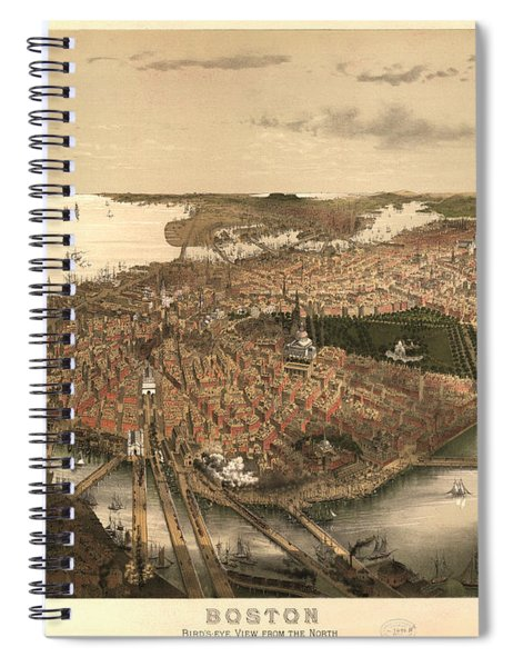 Boston Bird's-eye View From The North Spiral Notebook