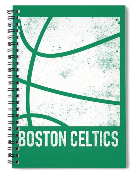Boston Celtics City Poster Art 2 Spiral Notebook