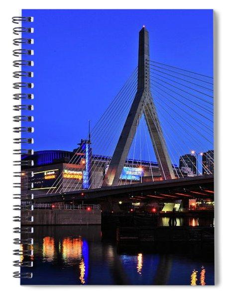 Boston Garden And Zakim Bridge Spiral Notebook