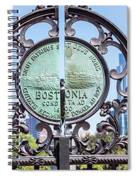 Boston Garden Gate Detail Spiral Notebook